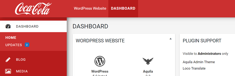 Aquila Admin Theme – Best Free WordPress Backend Customizer Plugin