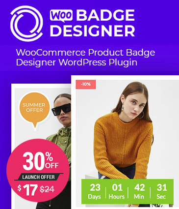 WooCommerce Product Badge Designer WordPress Plugin – Woo Badge Designer