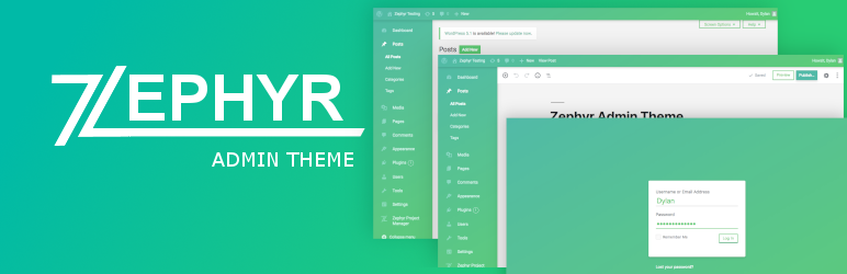 Zephyr Admin Theme – Best Free WordPress Backend Customizer Plugin