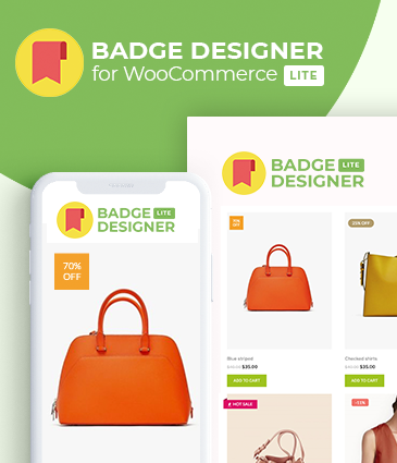 WooCommerce Product Badge Designer WordPress Plugin – Badge Designer Lite For WooCommerce