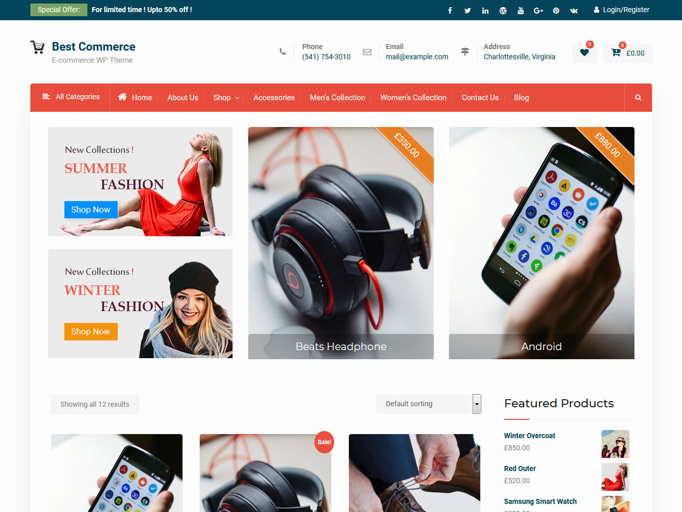 Best Commerce - Best Free WordPress WooCommerce Theme