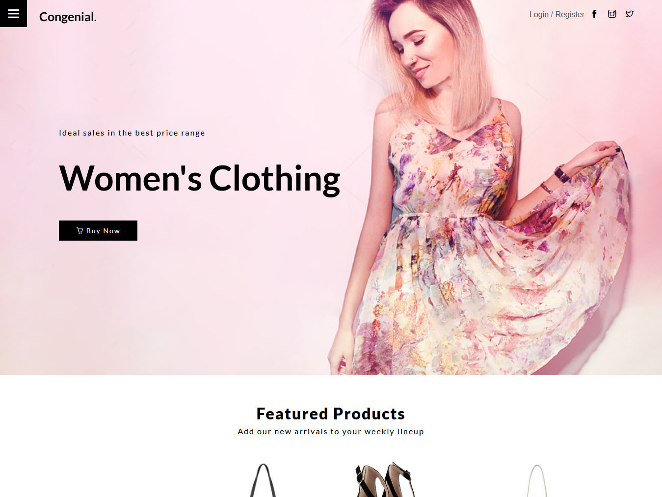 Congenial - Best Free WordPress WooCommerce Theme