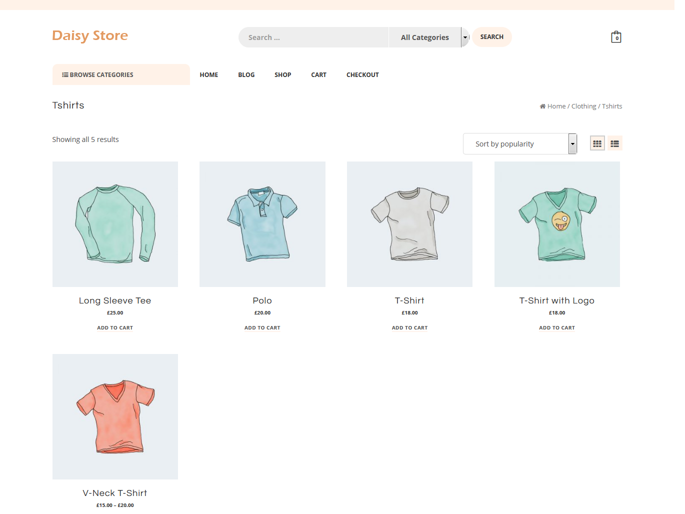 Daisy Store - Best Free WordPress WooCommerce Theme