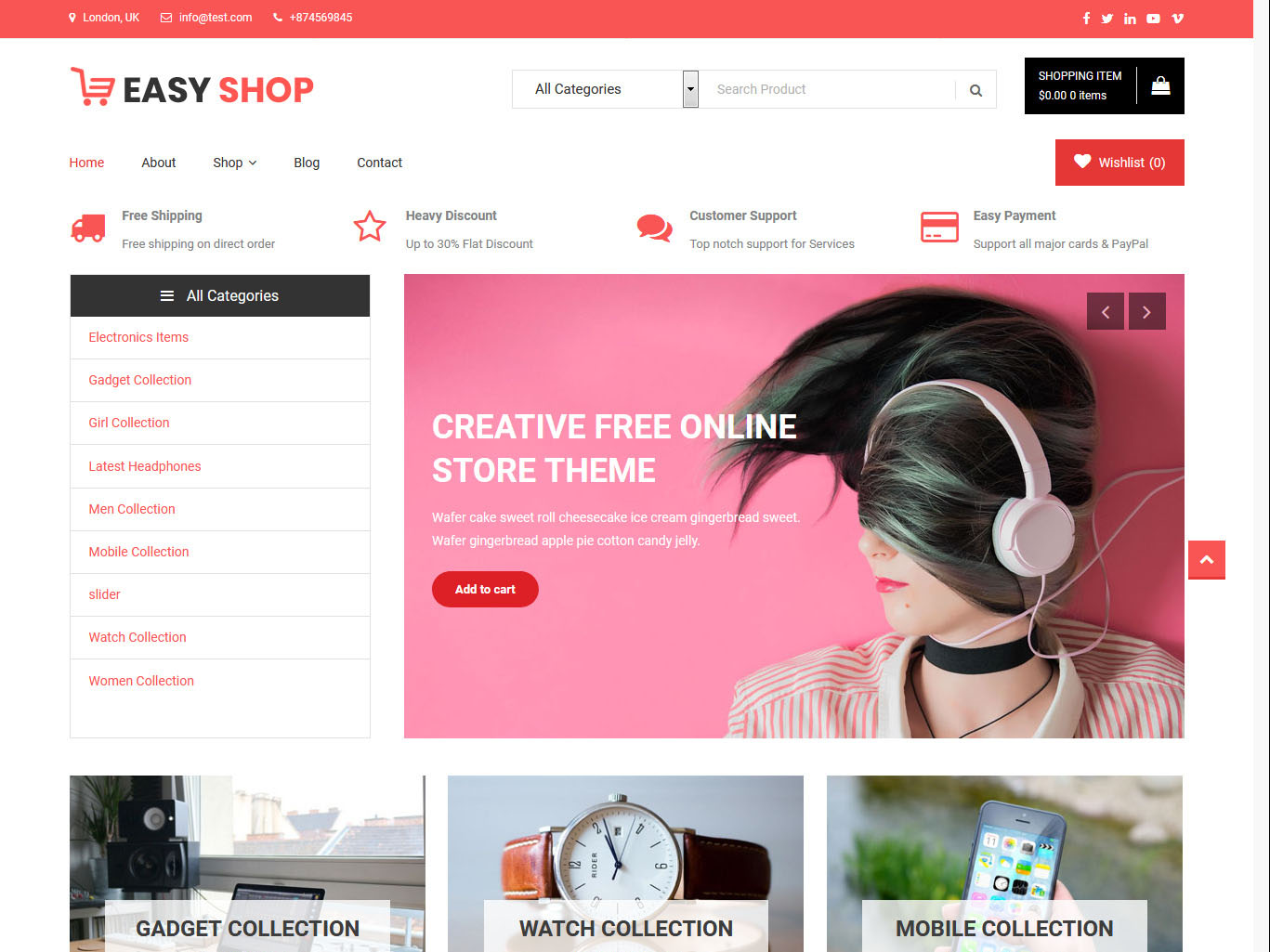 Easy Shop - Best Free WordPress WooCommerce Theme