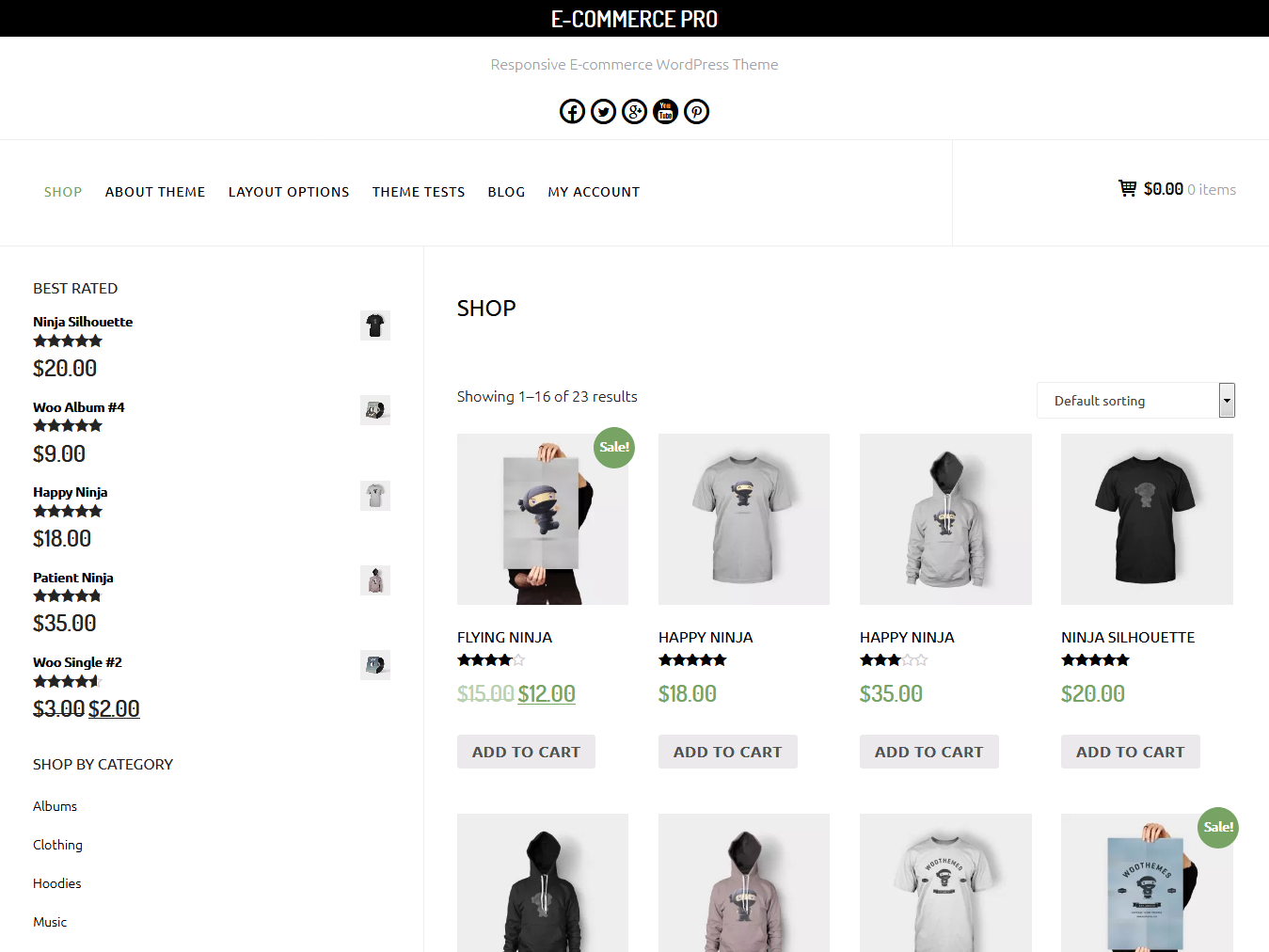 E-Commerce - Best Free WordPress WooCommerce Theme