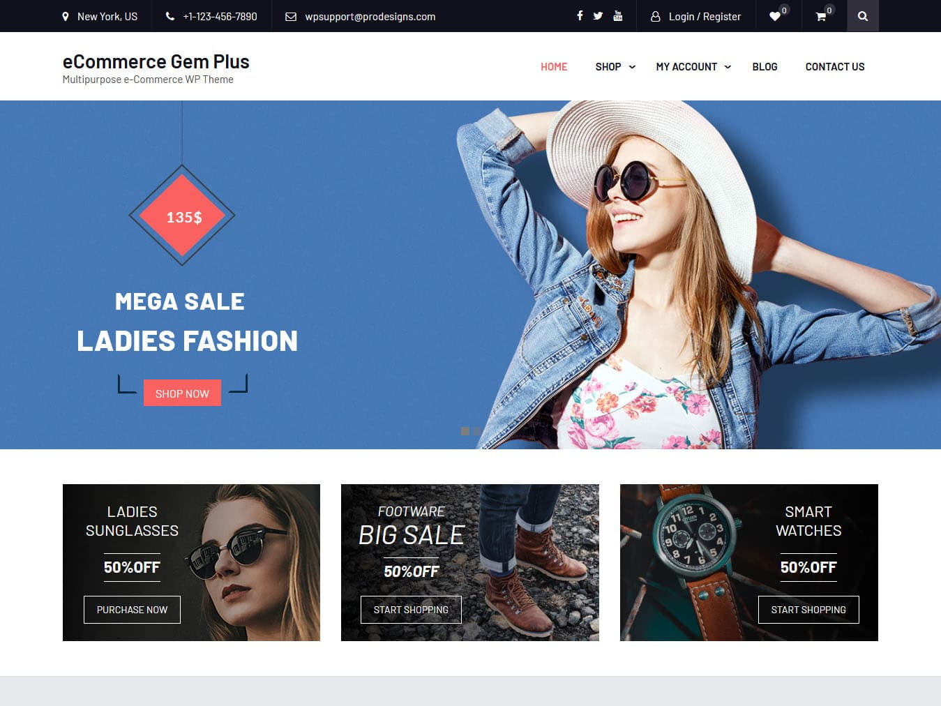eCommerce Gem - Best Free WordPress WooCommerce Theme