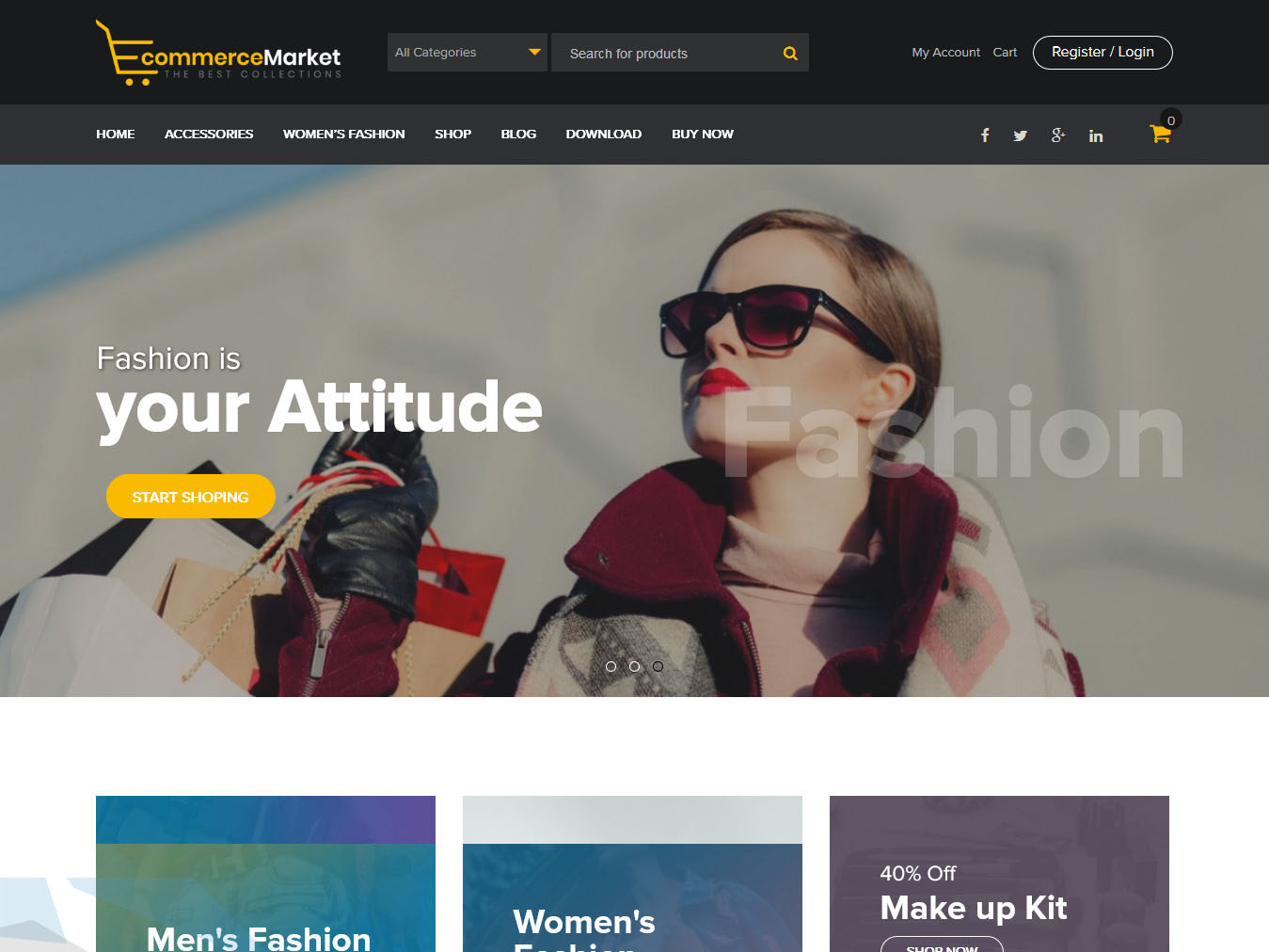 eCommerce Market - Best Free WordPress WooCommerce Theme