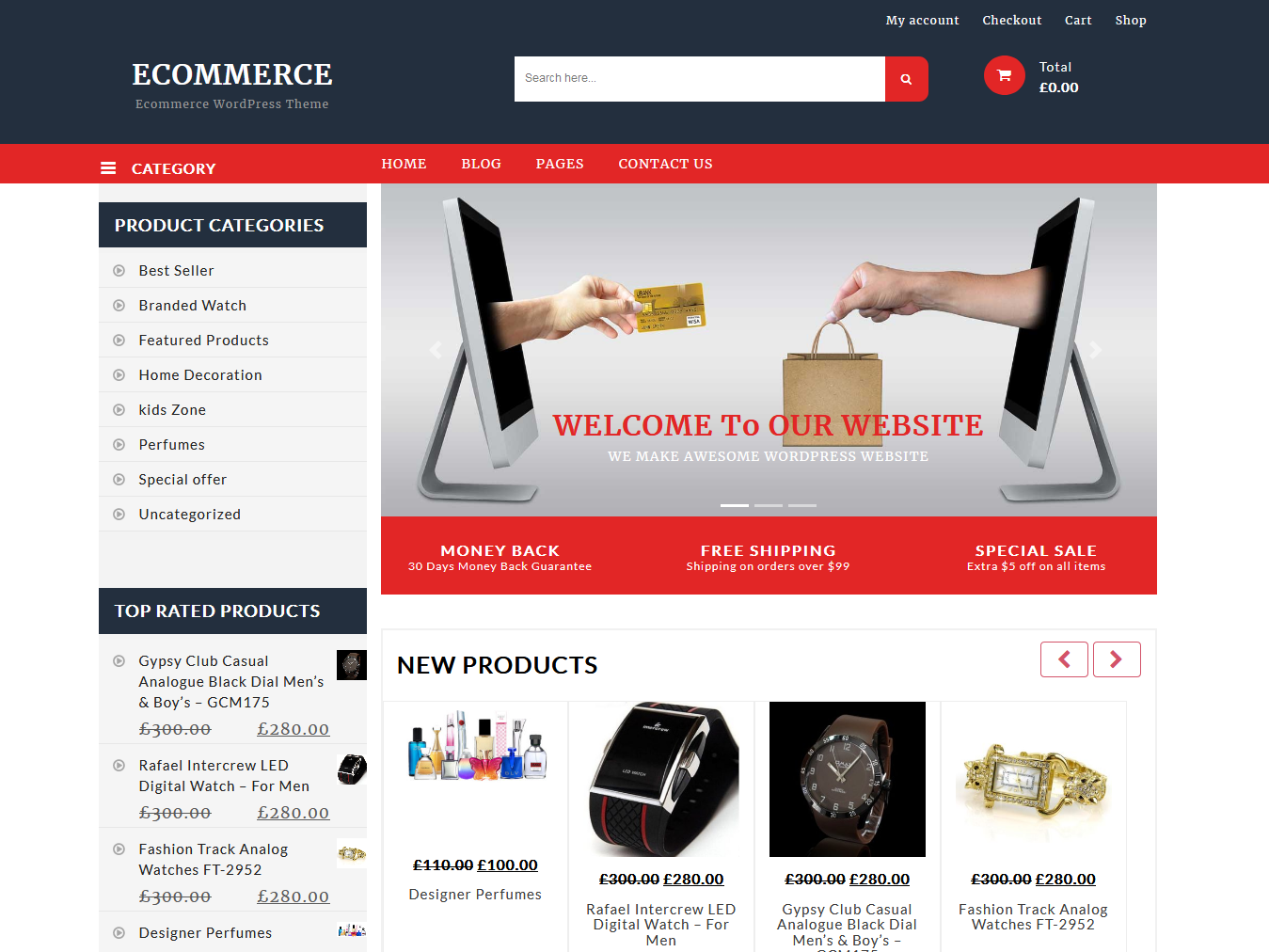 Ecommerce Shop - Best Free WordPress WooCommerce Theme