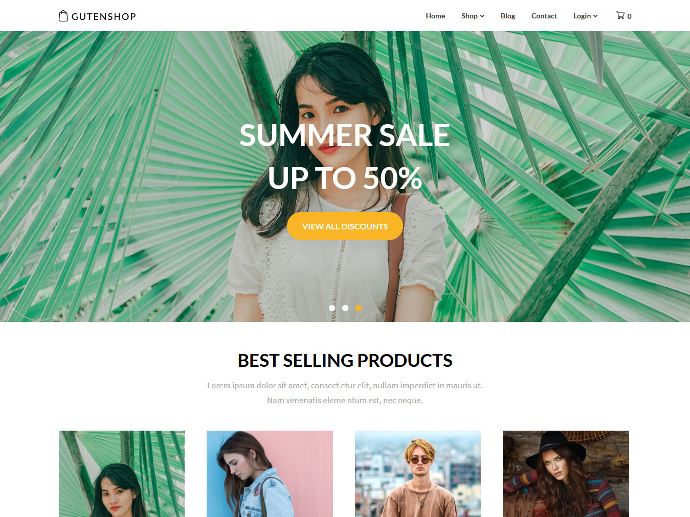 Gutenshop - Best Free WordPress WooCommerce Theme