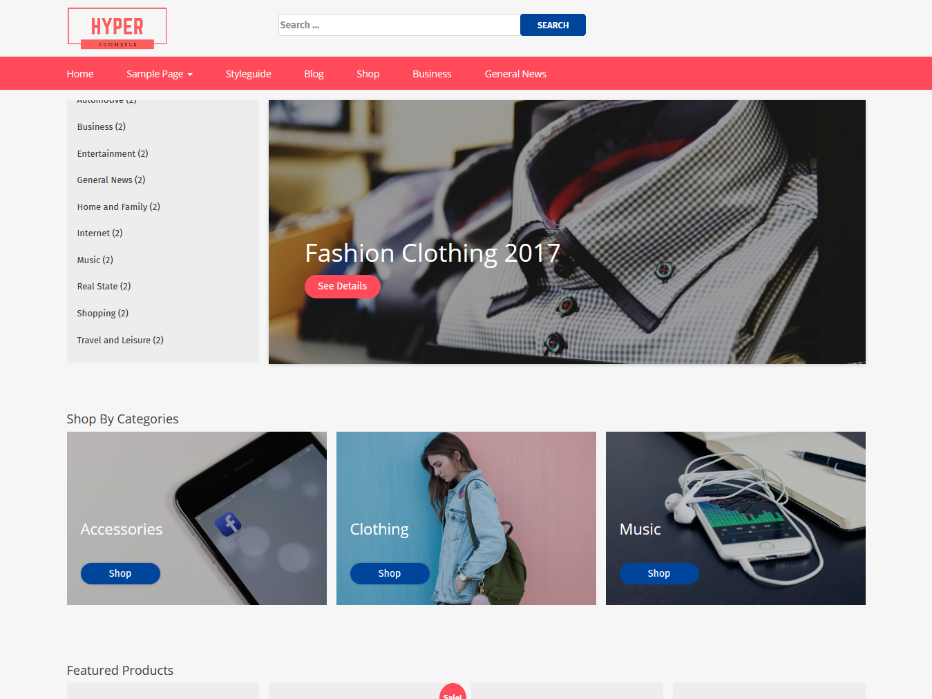 Hyper Commerce Store - Best Free WordPress WooCommerce Theme