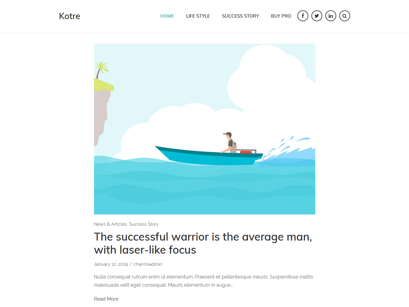 Kotre - Best Free WordPress WooCommerce Theme