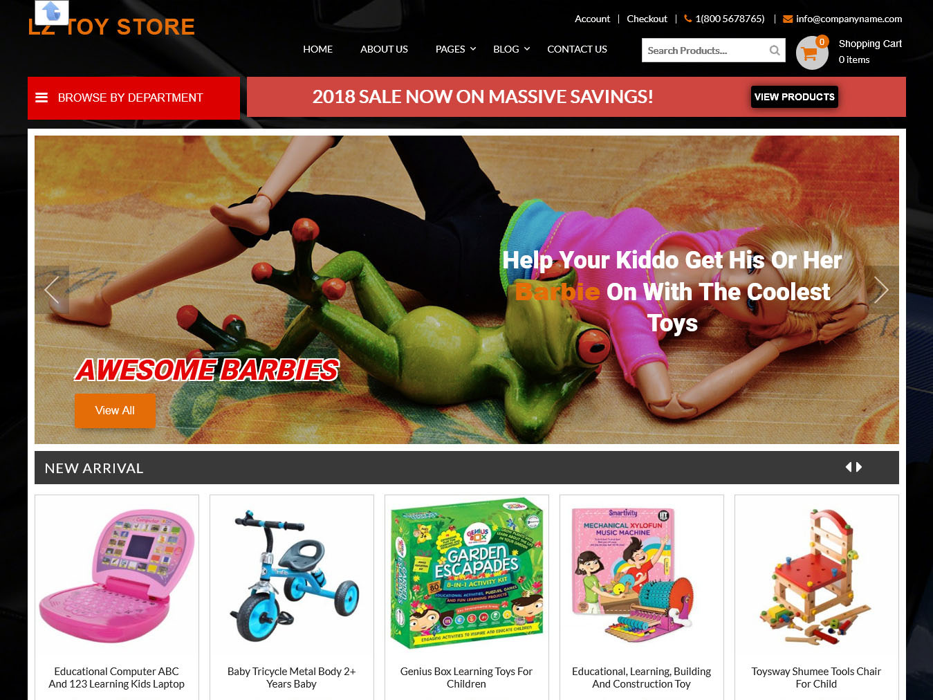LZ Toy Store - Best Free WordPress WooCommerce Theme