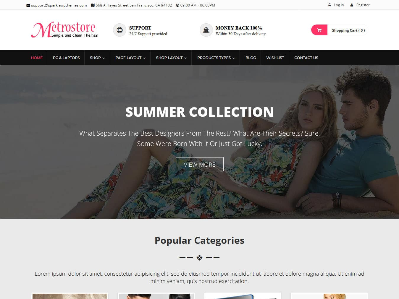 MetroStore - Best Free WordPress WooCommerce Theme
