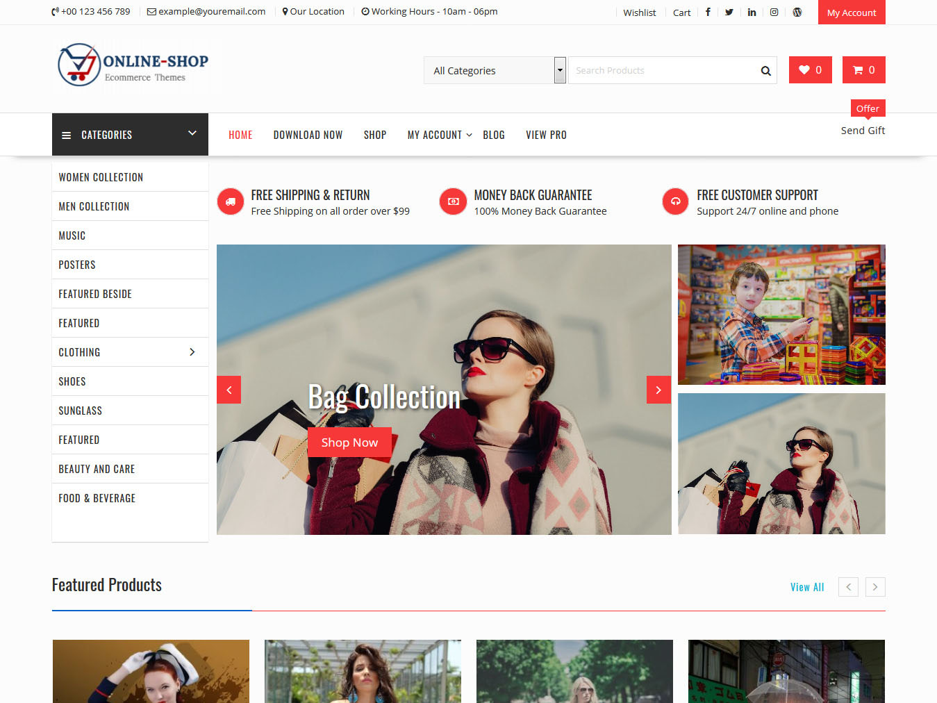 Online Shop - Best Free WordPress WooCommerce Theme