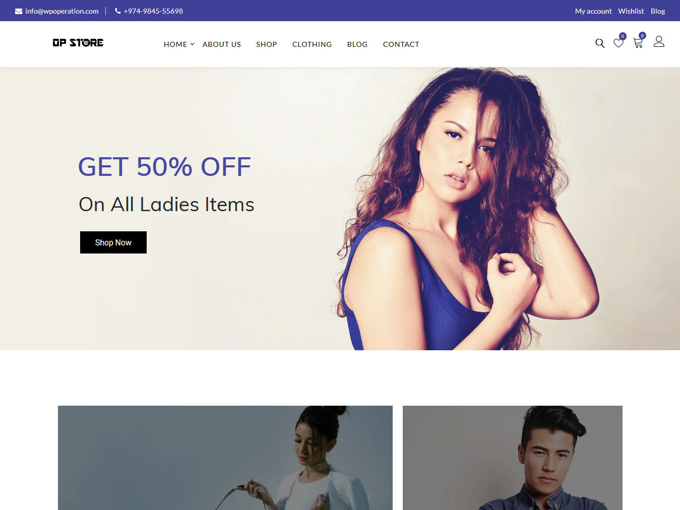 Opstore - Best Free WordPress WooCommerce Theme