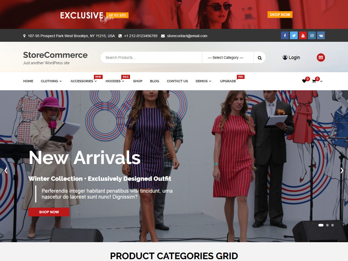 Store Commerce - Best Free WordPress WooCommerce Theme