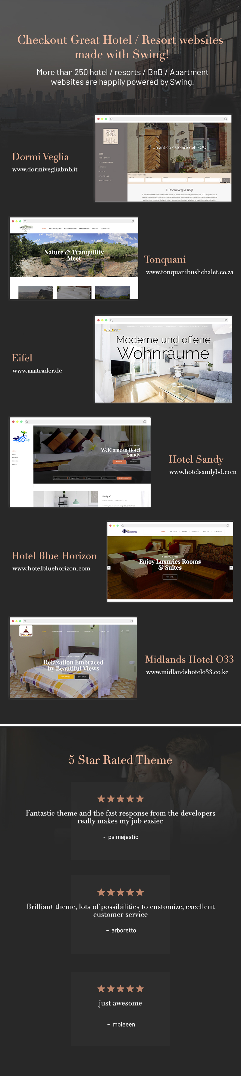#1 Hotel WordPress Theme with Booking Engine! – Swing