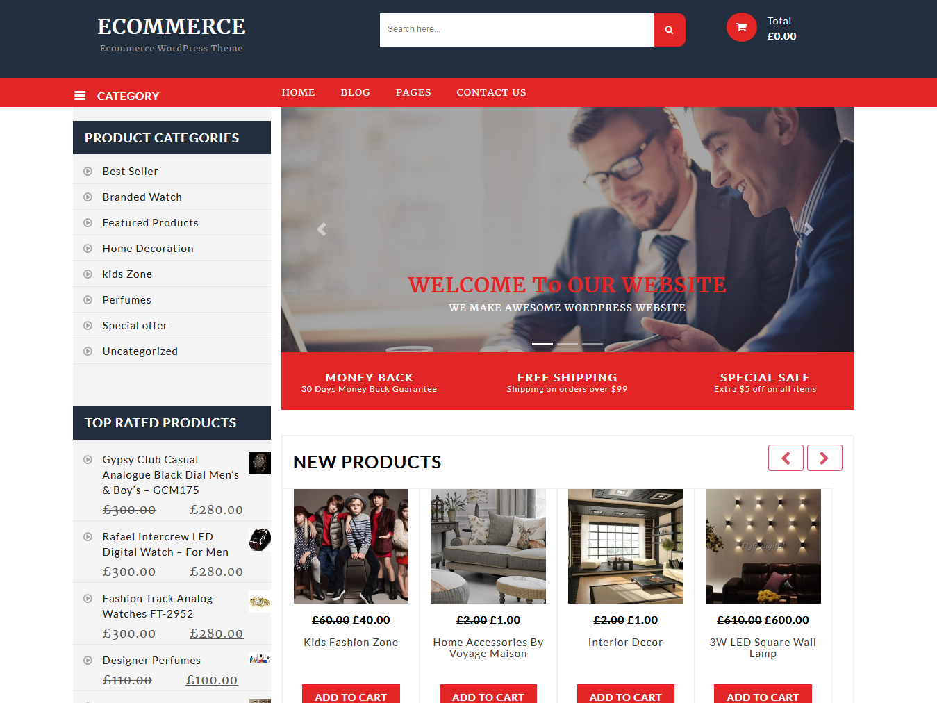 TC ECommerce Shop -Best Free WordPress WooCommerce Theme