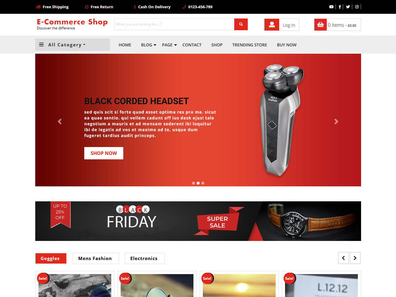 VW Ecommerce Shop - Best Free WordPress WooCommerce Theme