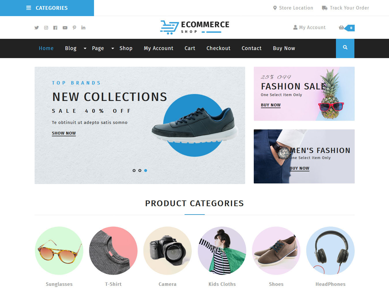 VW Ecommerce Store - Best Free WordPress WooCommerce Theme