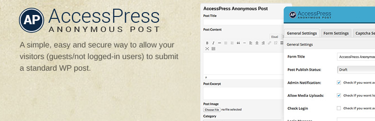 AccessPress Anonymous Post