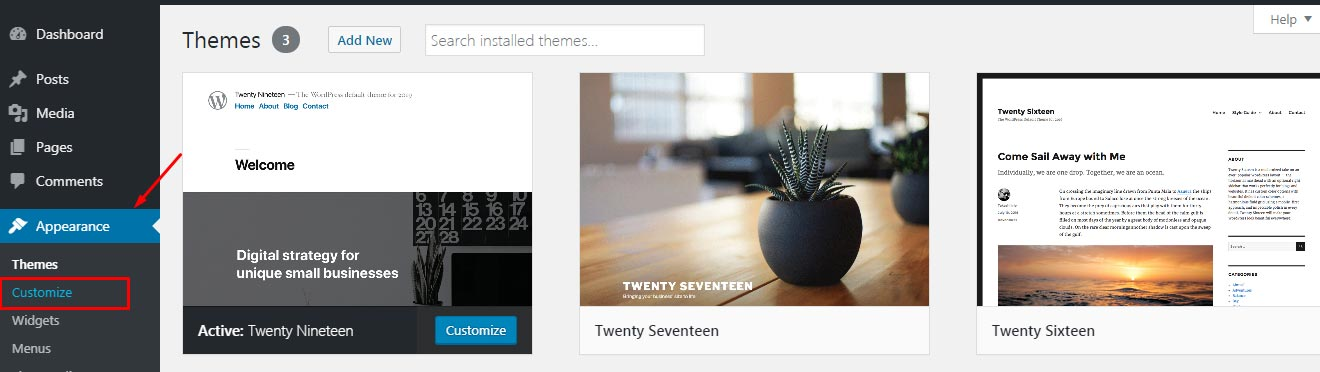 How to customize theme