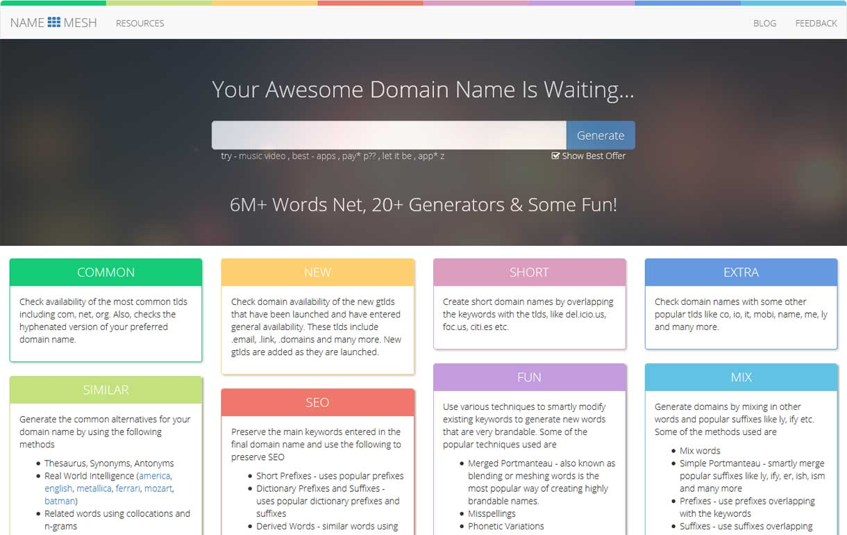 Name Mesh - Best Blog Name Generator