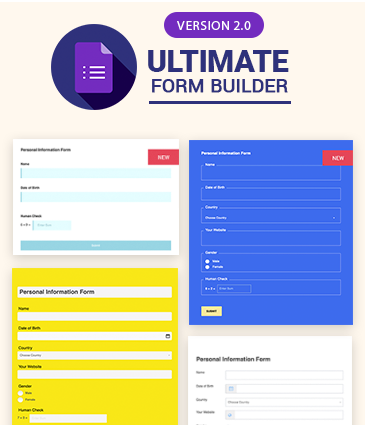 #1 Form Builder For WordPress – Ultimate Form Builder