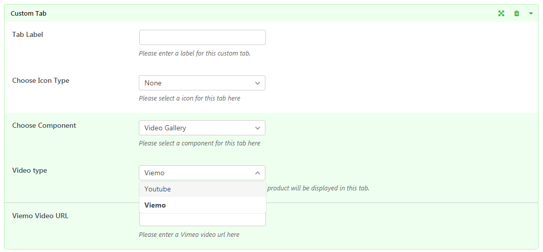 TabWoo Video Gallery Component