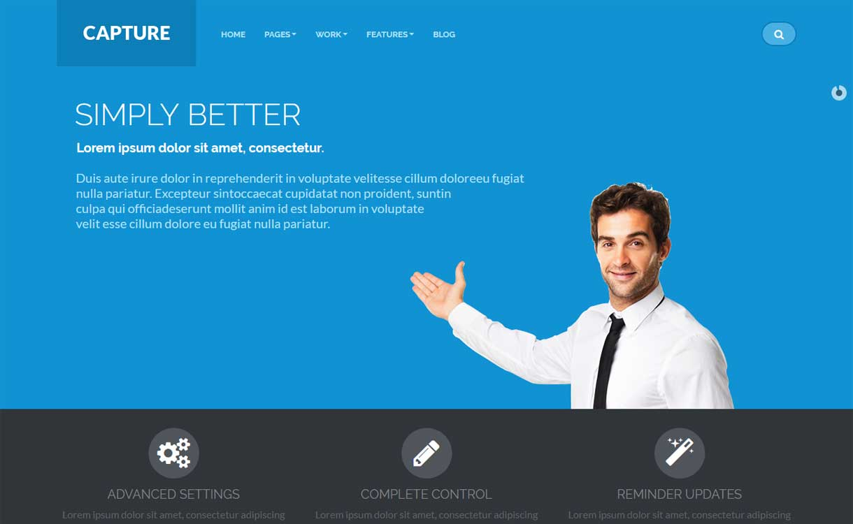 Capture - Best WordPress Bootstrap Theme