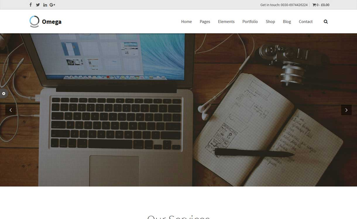 Omega - Best WordPress Bootstrap Theme