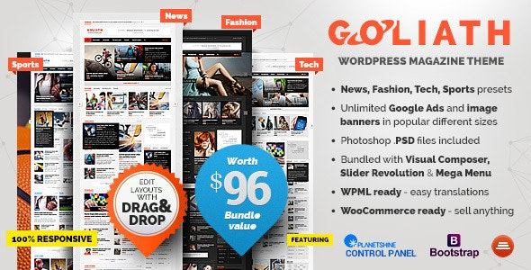 Goliath - Best Advertising WordPress Theme