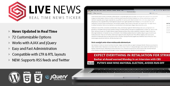 Live News - Best News WordPress Plugin