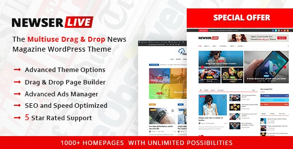 Newser - Best Advertising WordPress Theme