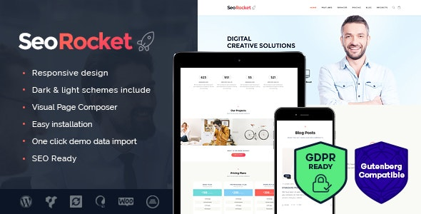Seo Rocket - Best Advertising WordPress Theme
