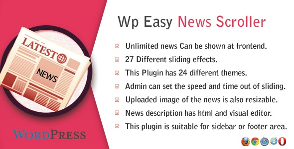 WP Easy News Scroller - Best News WordPress Plugin