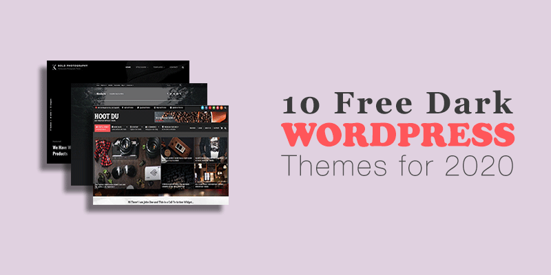 Free Dark WordPress Theme