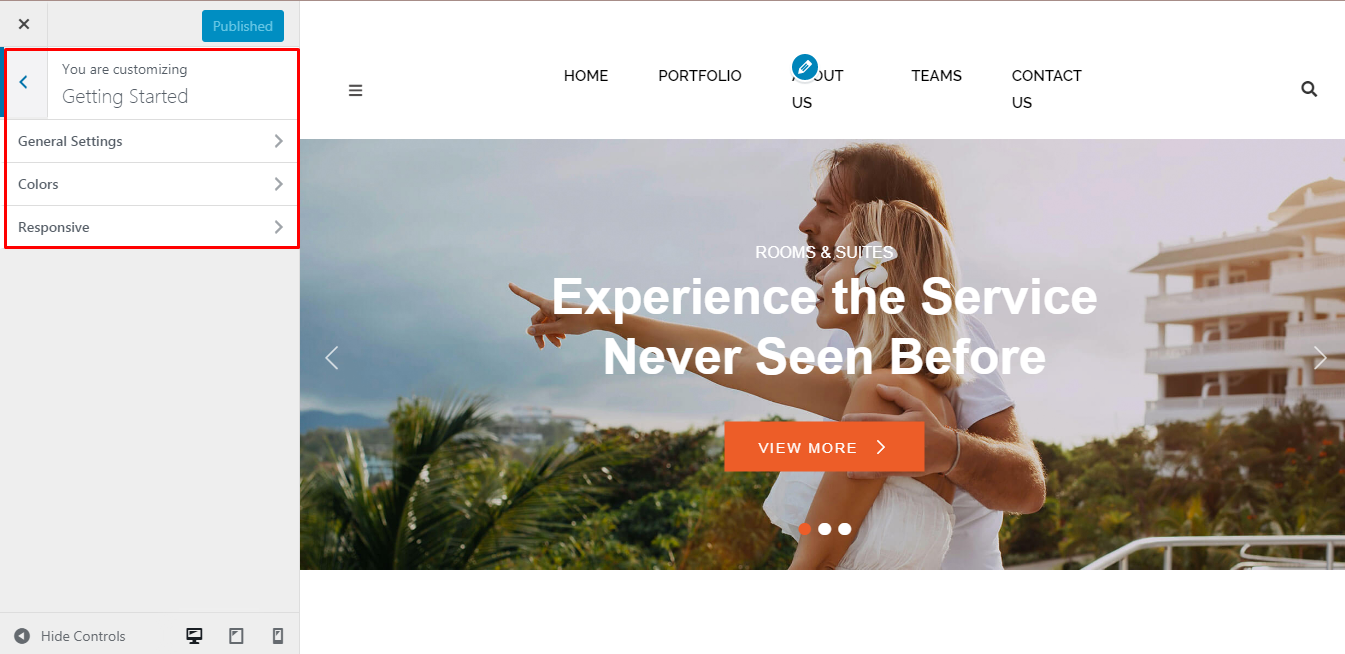 Getting Started with Punte Hotel Free WordPress Theme