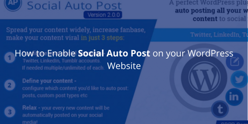 How to Enable Social Auto Post on your WordPress Website