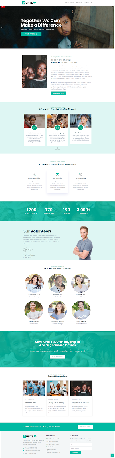 How to Make a Charity Website using WordPress Punte Theme