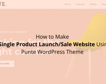 How to Make a Single Product Launch Sale Website Using Punte WordPress Theme