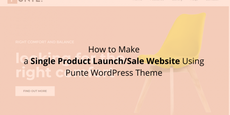 How to Make a Single Product Launch/Sale Website Using Punte WordPress Theme