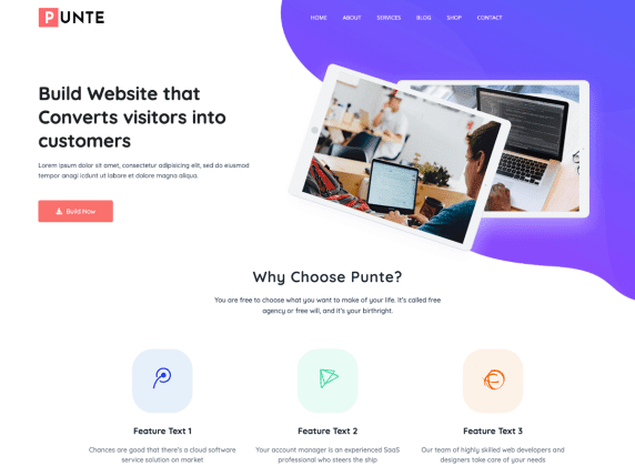 Punte Free WordPress Theme
