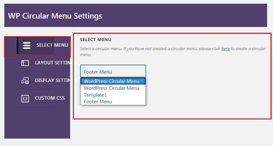 Create Circular Menu Structure in your WordPress Website