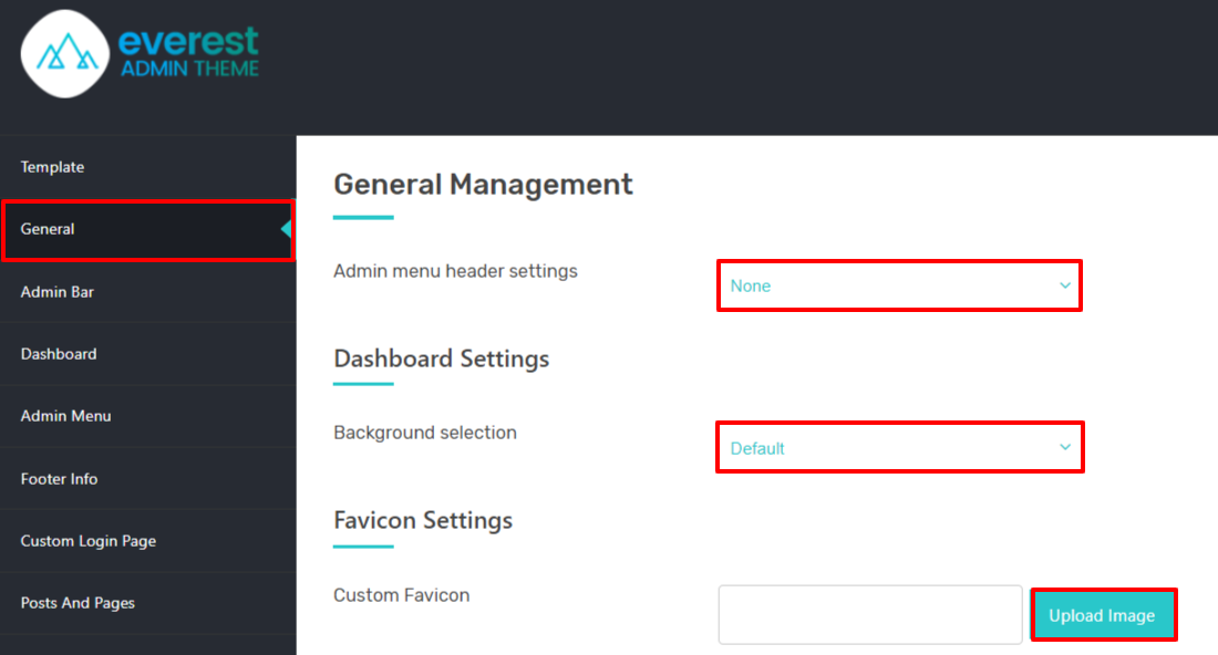 Customize the Default Admin Style.