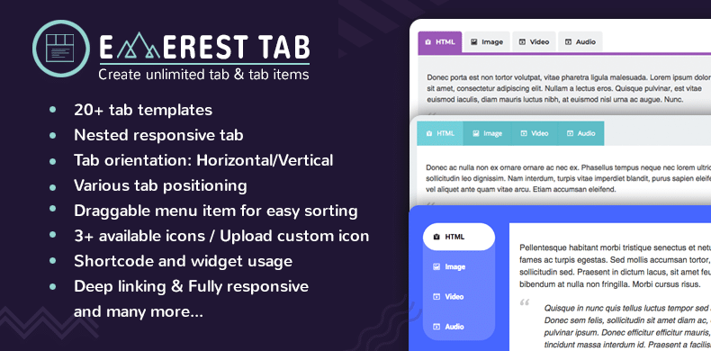 Download Everest Tab WordPress Plugin.
