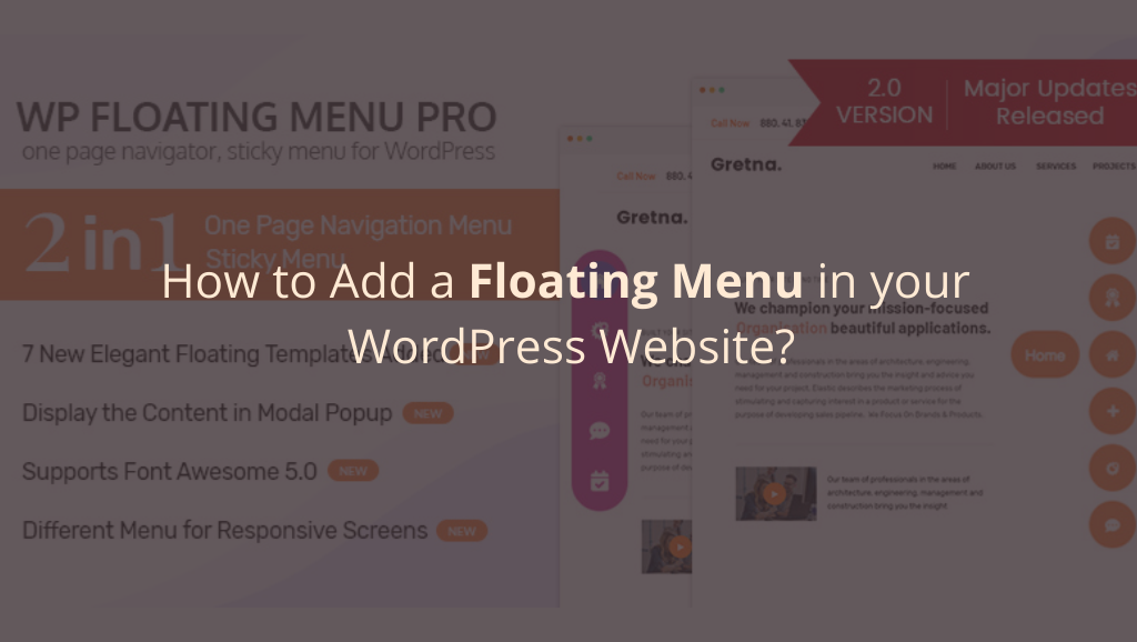How to Add a Floating Menu in your WordPress Website?