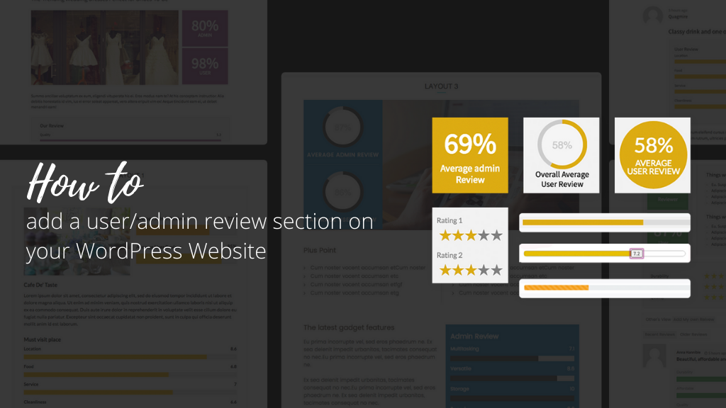 How to Add a User Admin Review Section on your WordPress Website