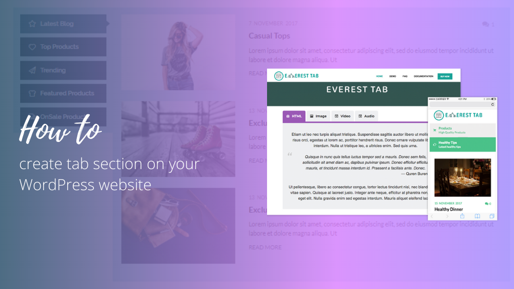 How to Create Tab Section on your WordPress Website