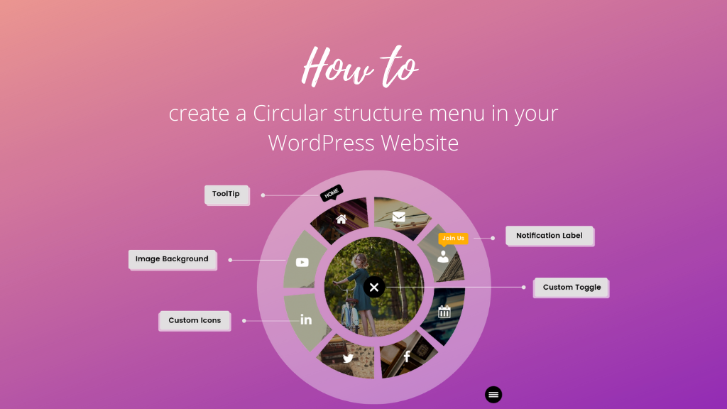 How to Create a Circular Structure Menu in your WordPress website